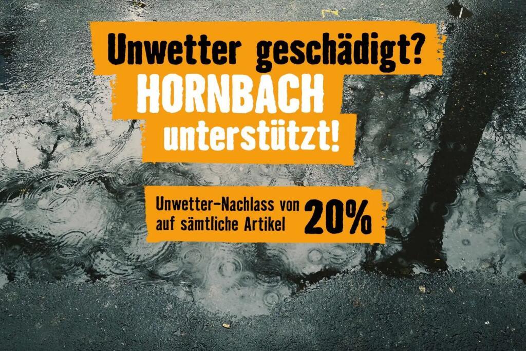 Hornbach Hochwasser Soforthilfe -20%