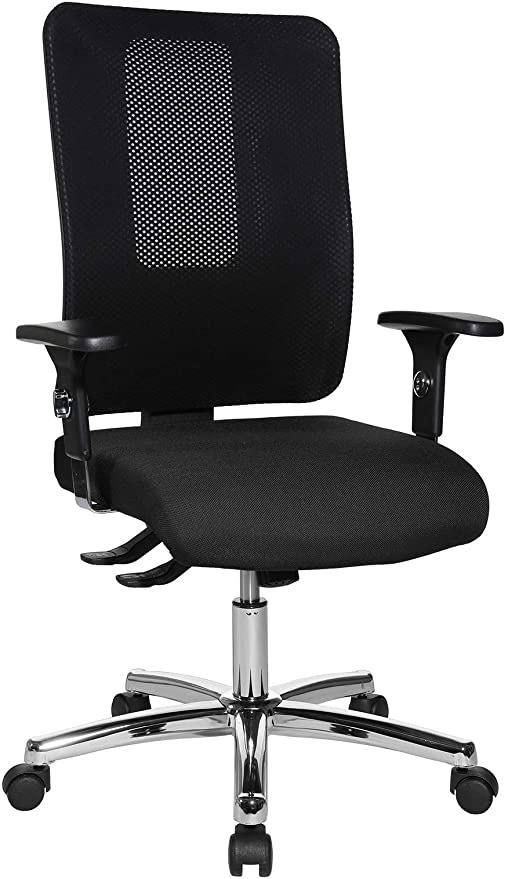 Topstar Open X (N) Deluxe Chrom, ergonomischer Bürostuhl, Schreibtischstuhl