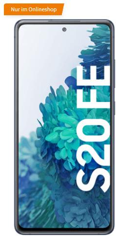 O2 / Telekom Netz: Samsung Galaxy S20 FE 6/128GB + Trio Charger / Buds Live / Galaxy Fit 2 für 19,99€ monatlich, 1€ einmalig