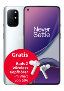 Telekom Netz: OnePlus 8T 8/128GB grün/silber + Buds Z im Congstar Allnet 10GB LTE für 22€ monatlich, 45€ einmalig