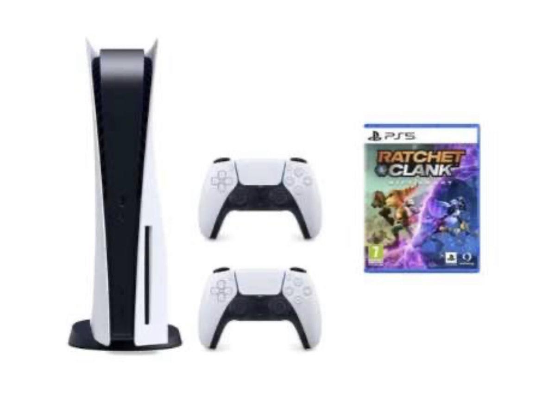 Sony Playstation 5 Konsole als Bundle inkl. Ratchet & Clank + 2. DualSense Controller