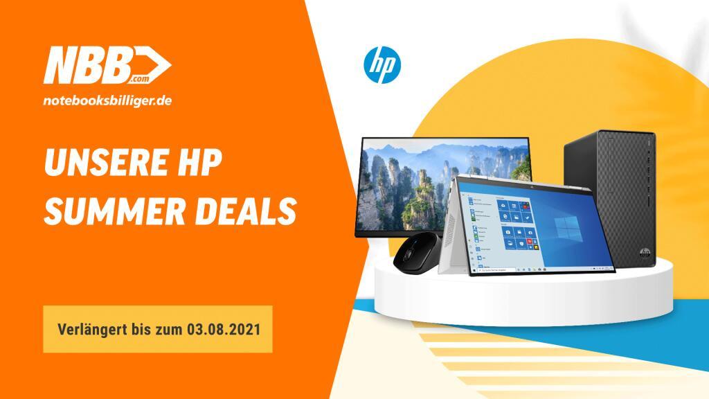 NBB HP Summer Deals: Diverse Notebooks, Convertibles, PCs, Monitore & Zubehör