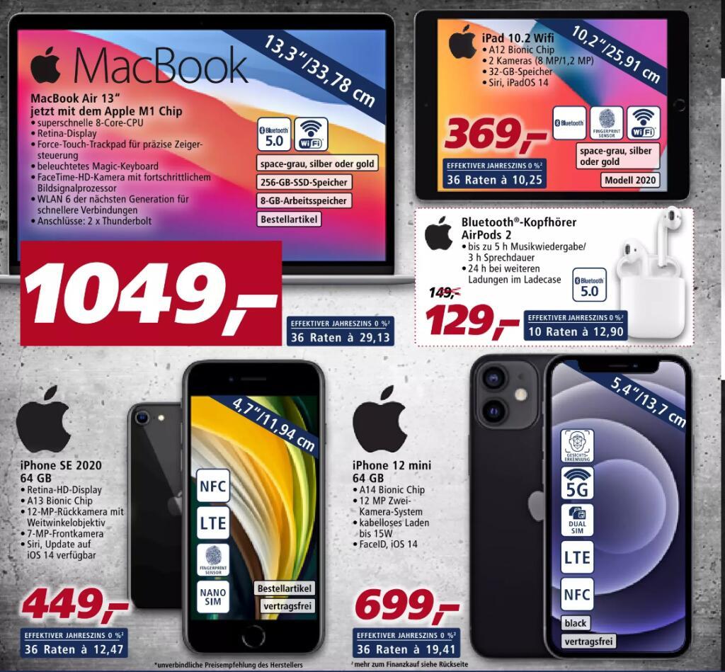 [Real F&F] Apple iPhone SE 2020 64GB - 336,75€ | iPad 2020 32GB WiFi - 276,75€ | iPhone 12 mini 64GB - 524,25€ | Mi 10T lite 5G - 209,25€
