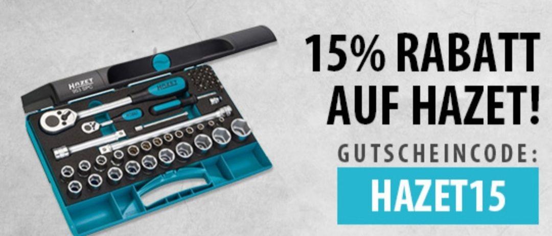 15% Rabatt auf HAZET mit Gutscheincode:HAZET15