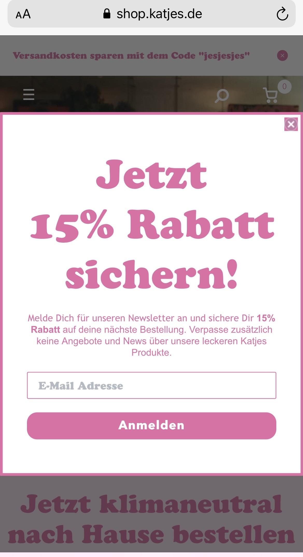 15% im Katjes Shop