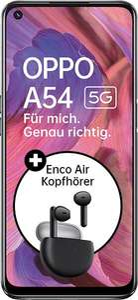 Oppo A54 5G (64GB) + Oppo Enco Air (Wert 79€) mit 2GB simplytel Tarif für mtl. 6,99€ + 49,99€ ZZ [Telefonica-Netz]