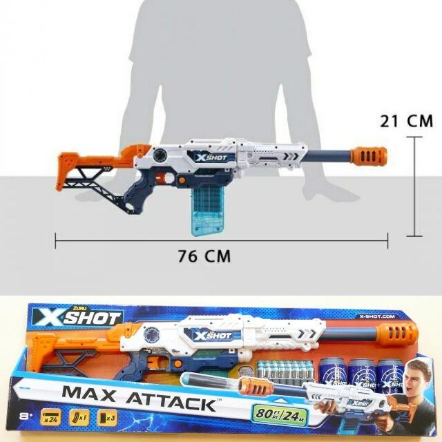 ZURU™ X-SHOT Max Attack Clip Blaster Dartgewehr