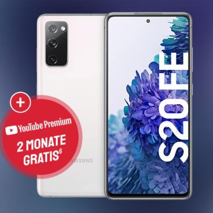 Samsung Galaxy S20 FE (128 GB, Snapdragon) für 4,95€ ZZ mit o2 Free M (20GB LTE I 5G, 300 Mbit/s, VoLTE, WLAN Call) für mtl. 23,99€