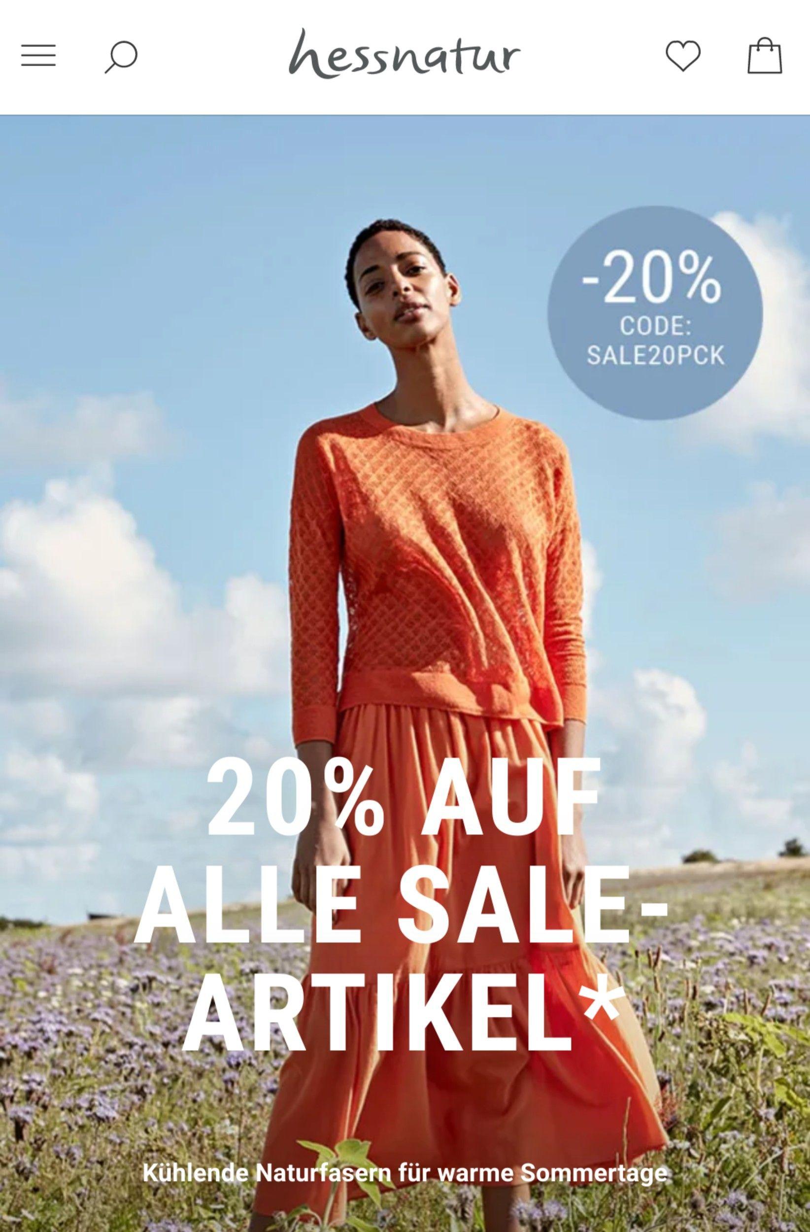 Hessnatur 30% extra auf Sale-Artikel
