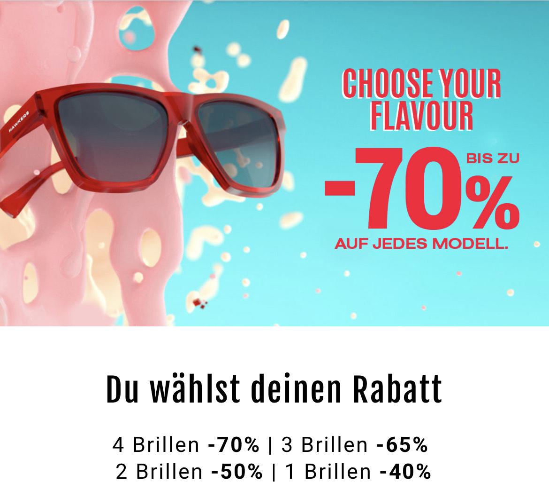 Hawkers und Northweek Sonnenbrillen mit bis zu 70% Rabatt (bei Abnahme von 4 Brillen)