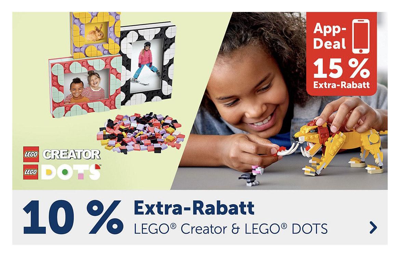 MyToys 10% bzw. 15% Rabatt auf Lego Creator und Dots
