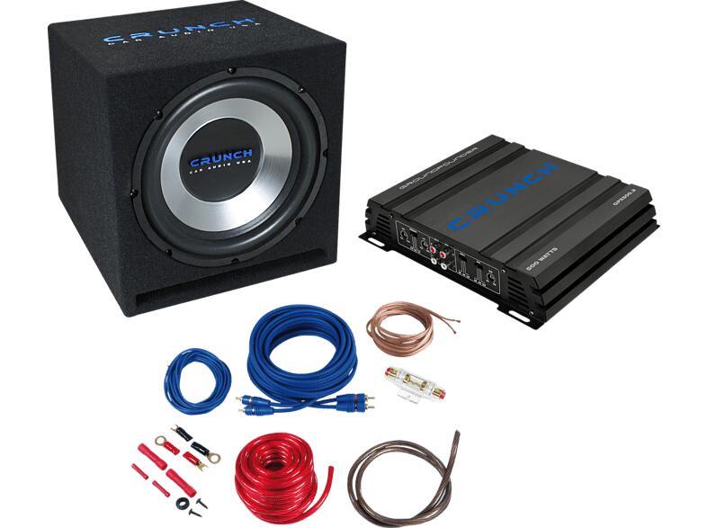 CRUNCH CBP-500 Basspaket Aktiv inkl. 2CH Amp, Subbox und Kabelkit für 139€ inkl. Versandkosten