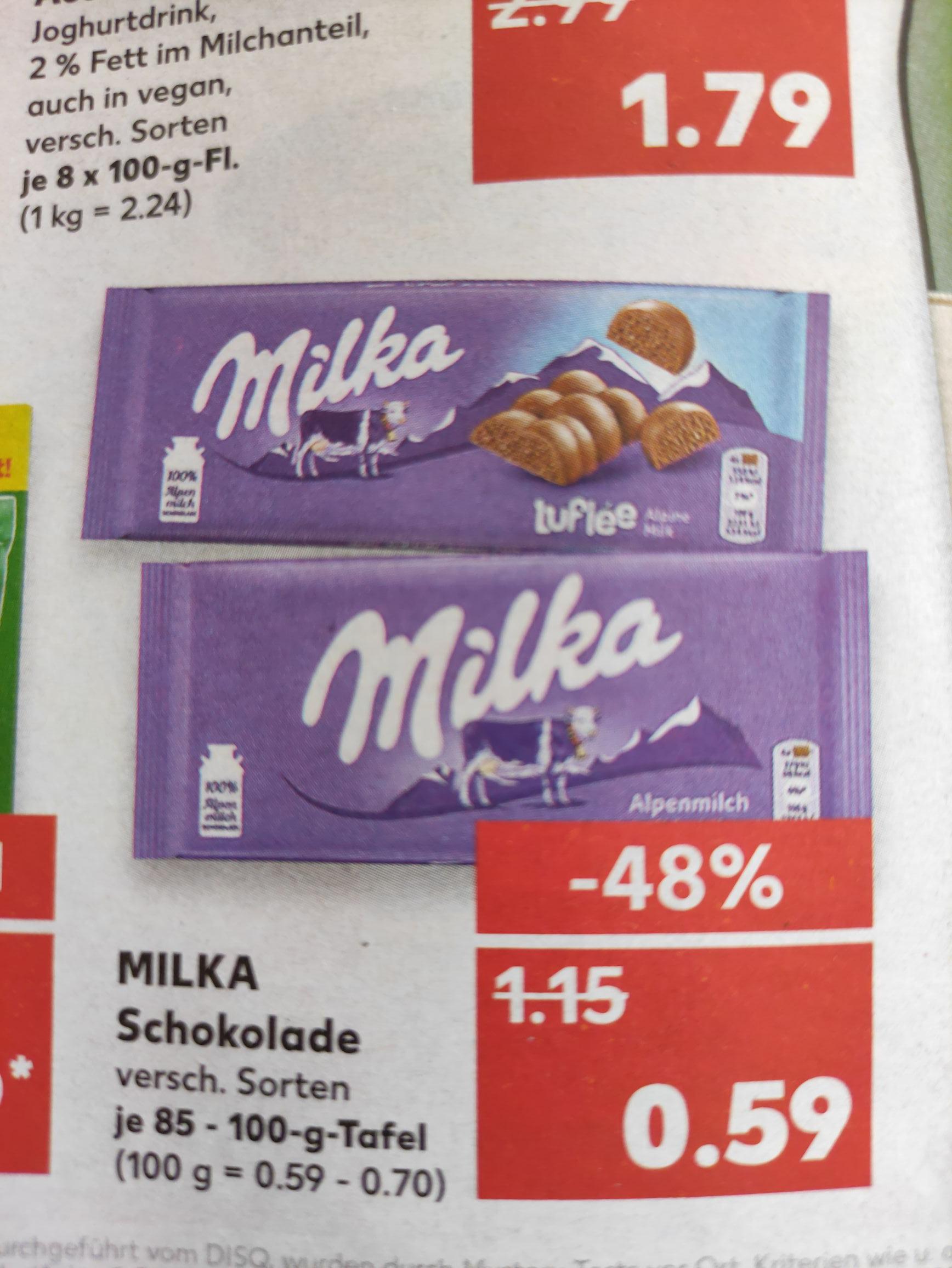 Milka Schokolade - verschiedene Sorten [Kaufland offline bundesweit?]
