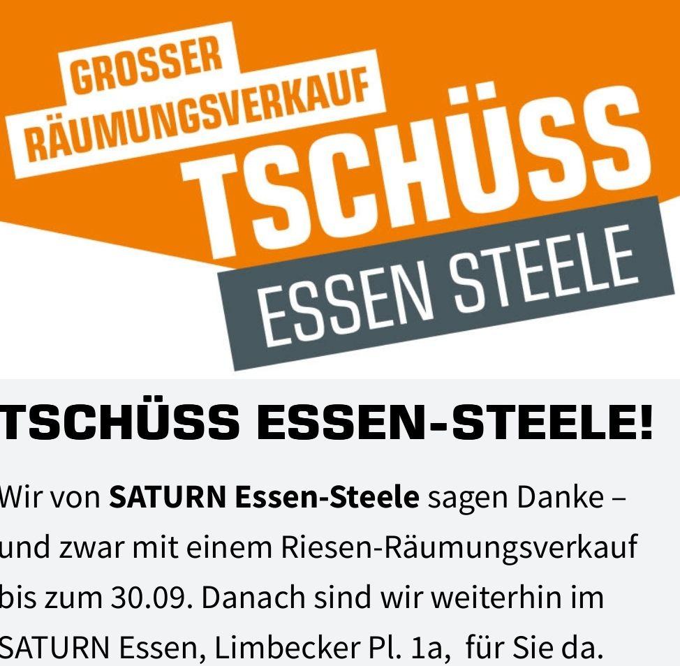 REGIONAL - Saturn Essen-Steele 10%-30% Rabatt Außer auf Angebote