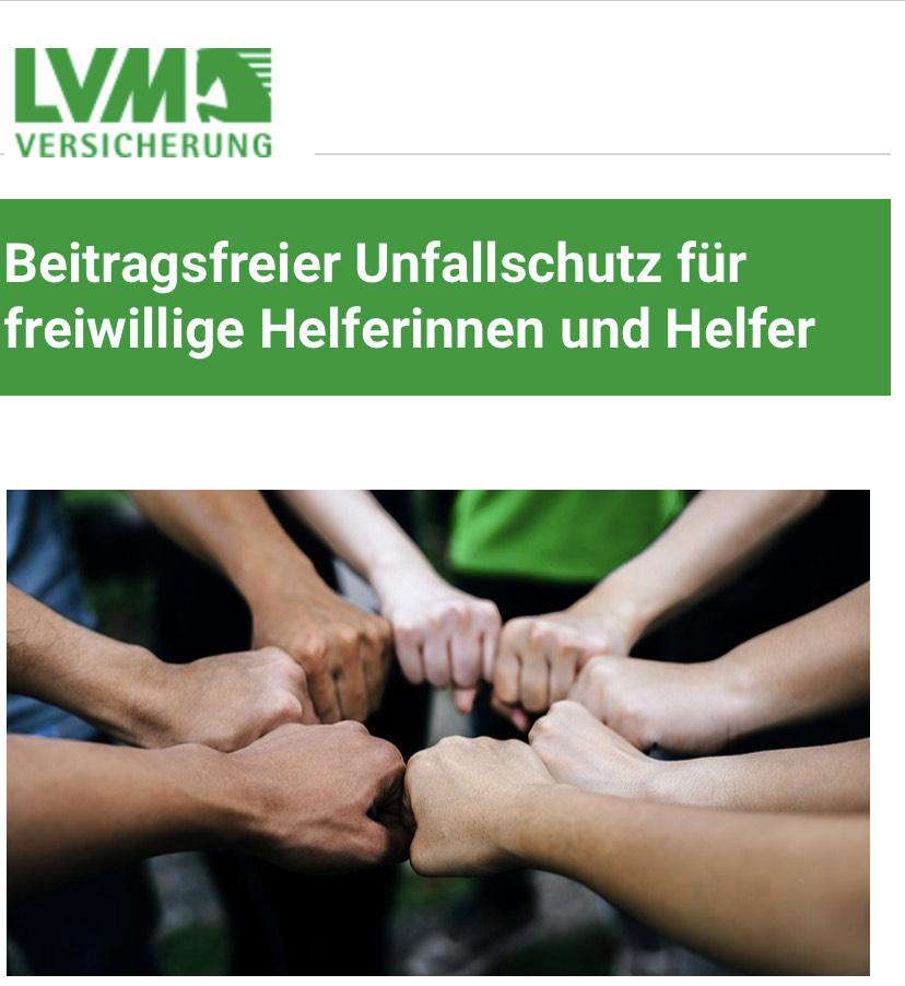 LVM kostenlose Unfallversicherung für Helfer und Helferinnen und den Flutgebieten