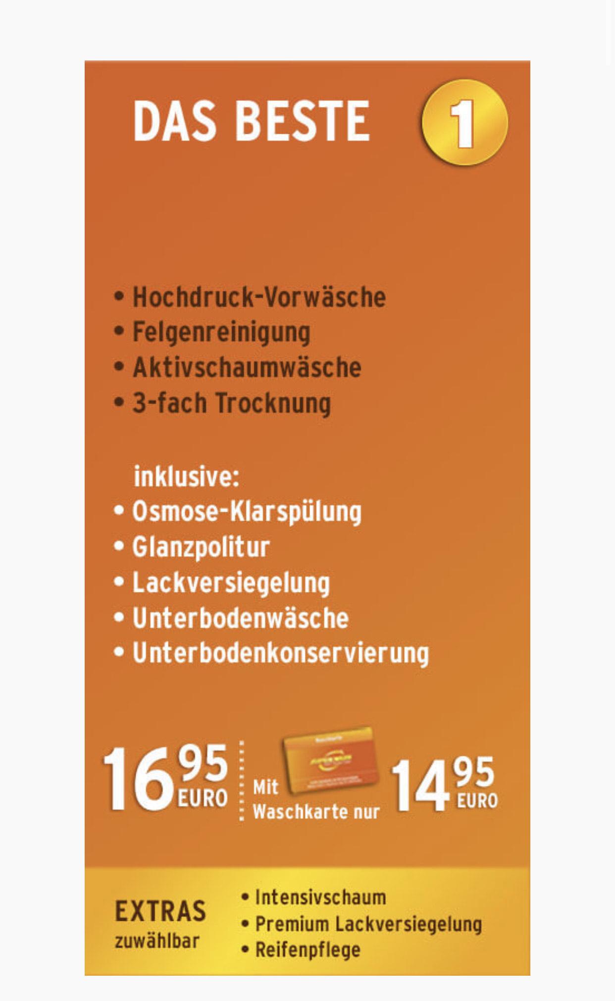 """[Nürnberg] Kostenlose Autowäsche """"Das Beste"""" im Wert von 16,95 € gegen Google Bewertung"""