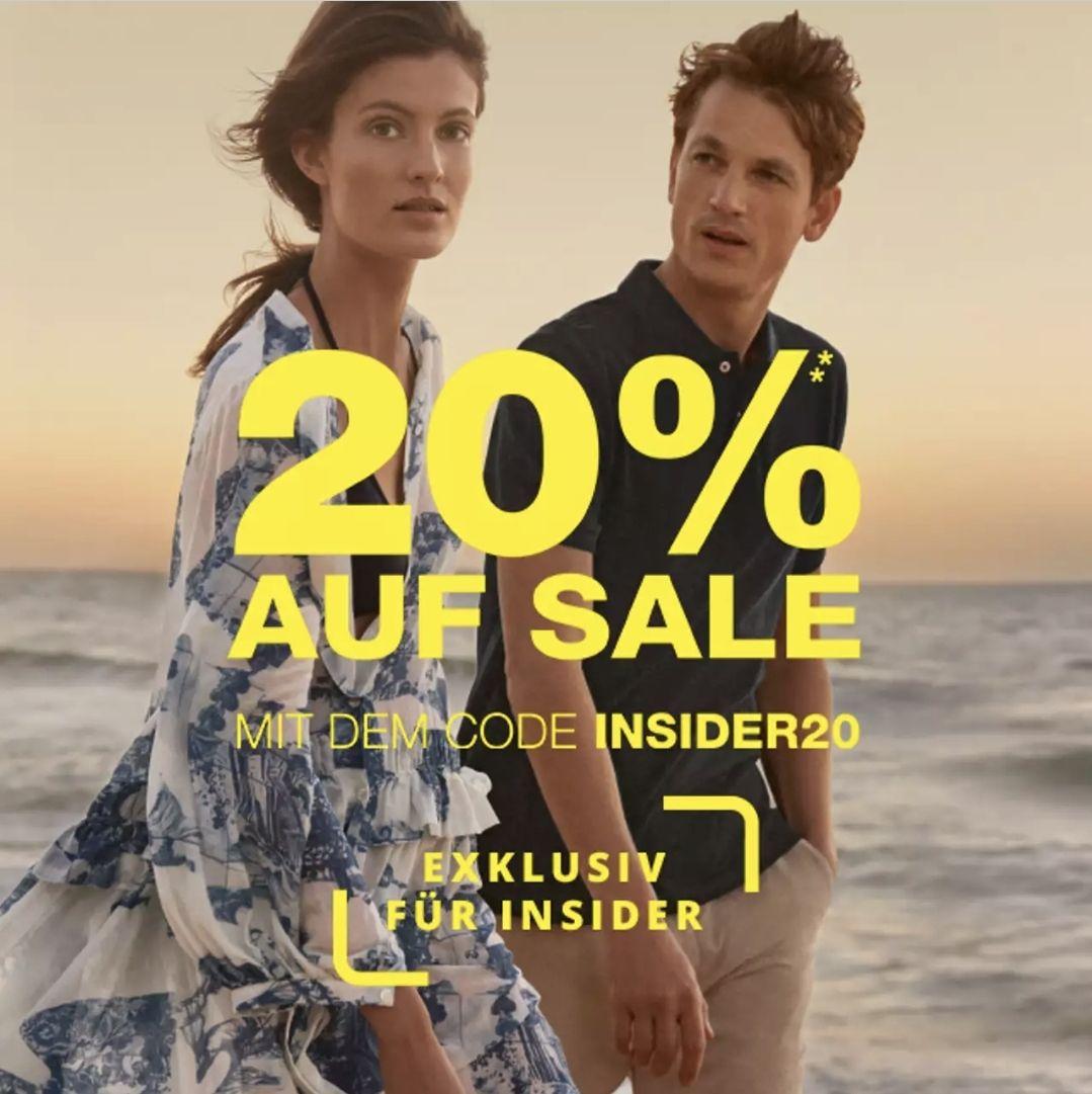 20% Rabatt zusätzlich auf alle Sale Artikel bei Peek & Cloppenburg