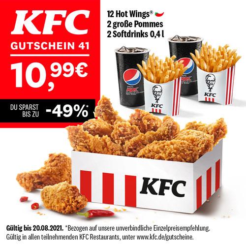 KFC Gutscheine bis zum 20.08.2021