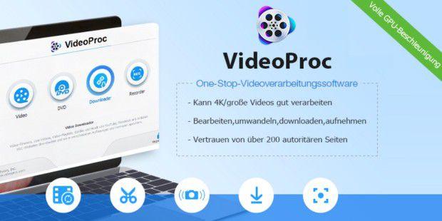 [pcwelt] VideoProc v4.2 als Giveaway@free oder mit Lifetime License für 29,95€