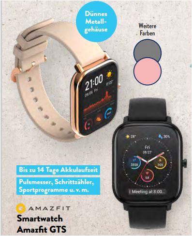 Amazfit GTS Smartwatch für 64,99 Euro [Aldi Süd]
