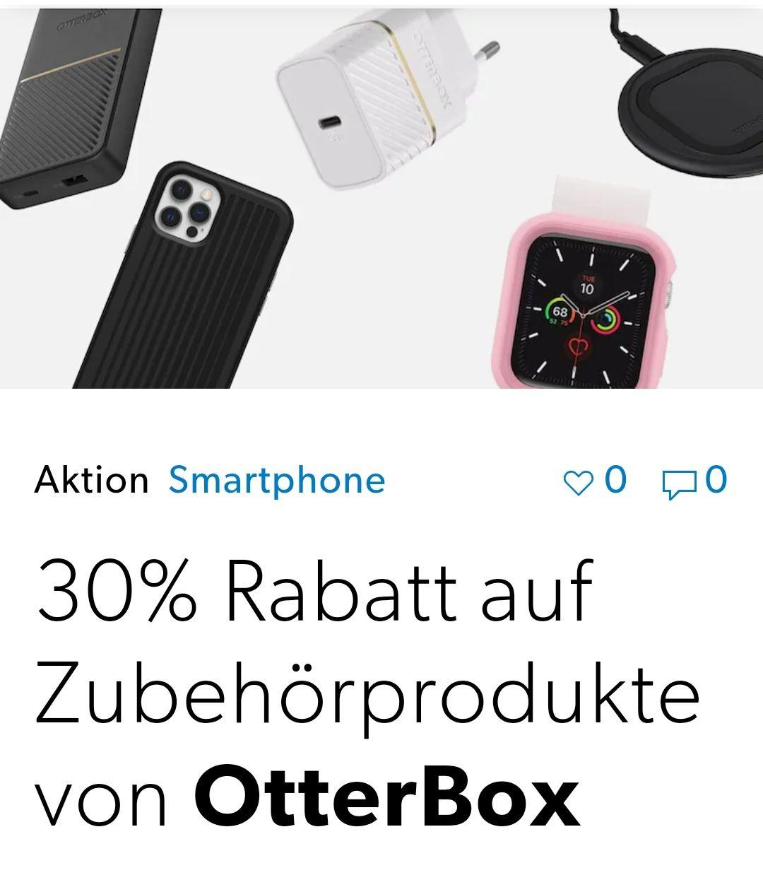 30% Rabatt auf Otterbox Produkte Hülle Smartphone Case @ galaxus