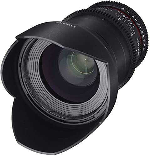 [Amazon] Samyang 35/1,5 Objektiv Video DSLR II Sony E manueller Fokus Videoobjektiv 0,8 Zahnkranz Gear, Weitwinkelobjektiv