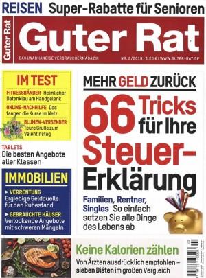 7 Ausgaben Guter Rat lesen für 23,20 € und einen 20 € Scheck als Geschenk erhalten