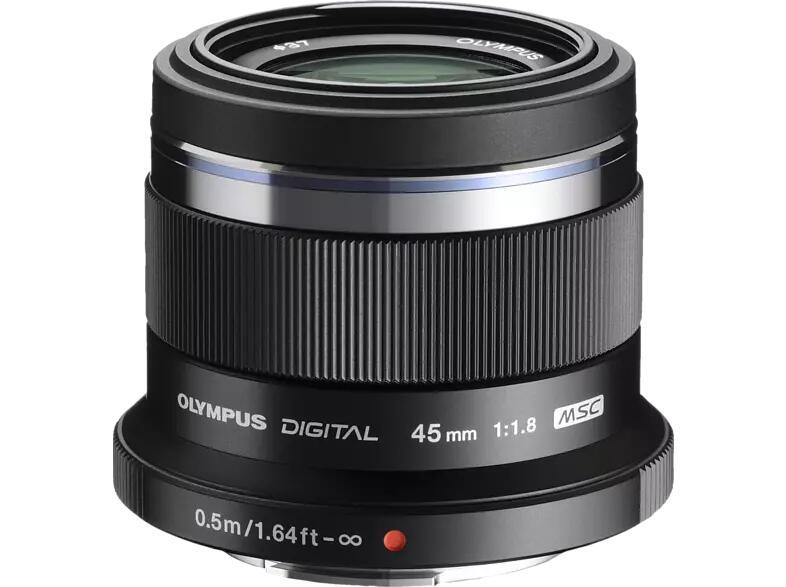 Olympus M.Zuiko digital 45mm f/1.8 schwarz Objektiv für Micro-Four-Thirds bei Saturn