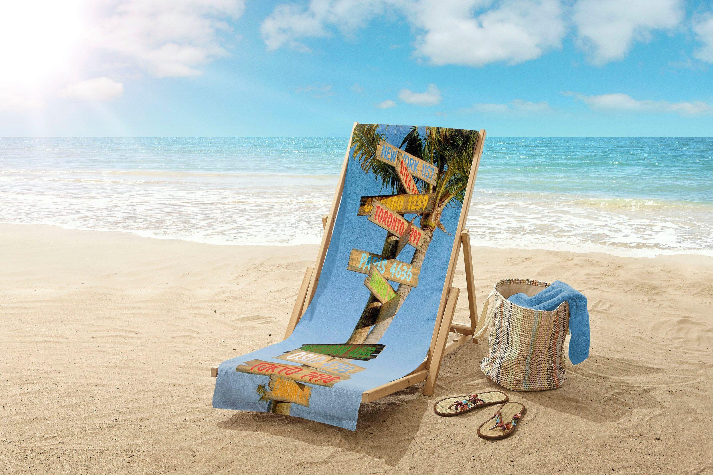 30% Rabatt auf Strandhandtücher + 10% on top @Otto, z.B. good morning Strandtuch »Citysigns« (1-St), mit Schriftzügen