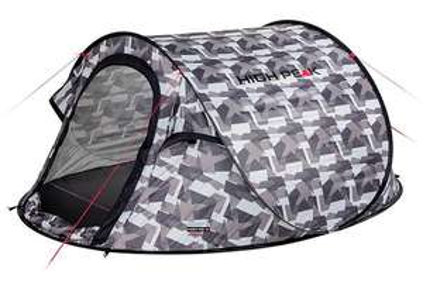 High Peak Wurfzelt Vision 3 camouflage 58,24€ und pearl 54,58€ (Maingau Kunden 38,56€) [235 x 180 x 100 cm, 3 Personen, UV60, 2000mm]