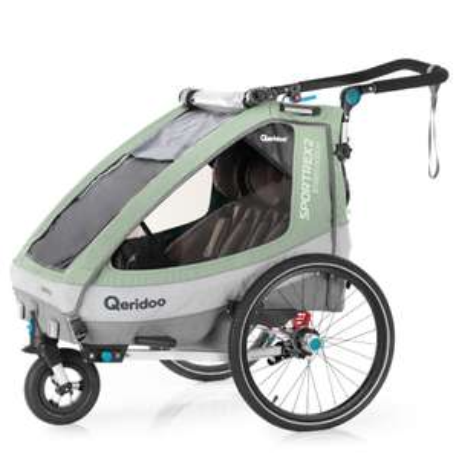 Qeridoo Sportrex 2 mint Babymarkt Fahrrad Anhänger, Buggy, Jogger