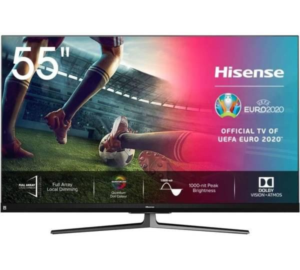 Hisense 55U8QF TV - Fernseher 100Hz QLED 55 Zoll UHD 4K QLED @alles-mit-stecker /mytvshop