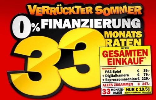 Media Markt  -  0% Finanzierung mit 33 Monatsraten ab 330€ Einkaufswert