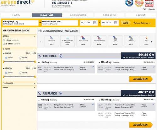 Flug nach Südamerika (Panama City) für 432,54 EUR