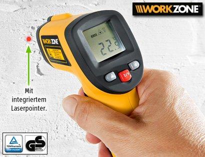 Digitales Infrarot Thermometer baugleich Typ Workzone (Aldi Süd) 43% billiger für 10,21€ statt 17,99€