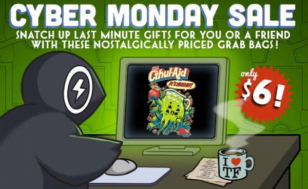 Cyber Monday Grab Bag Mystery Sale - Nerd Geek Gamer TV Shows 7€ Shirts