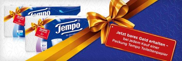 Tempo Toilettenpapier - 1-2€ Cashback