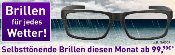 [Brille24.de] Brille mit selbsttönenden Gläsern für nur 79,90 inkl. Versand (mit Gutschein)
