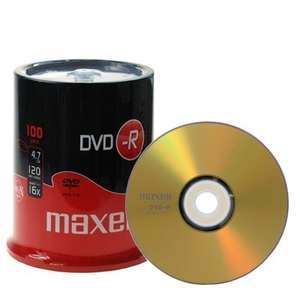 Maxell GOLD Professional DVD-R 4.7 GB - 16x - 100 Stück in Cakebox