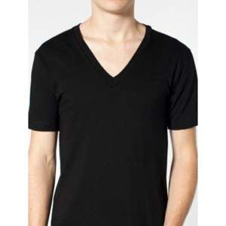 American Apparel  Unisex Fine Jersey  Short Sleeve V-Neck