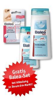 Gratis Balea Pflegeset + 5 Euro Gutschein + VSK frei bei 15 Euro MBW (europa apotheek und dm)
