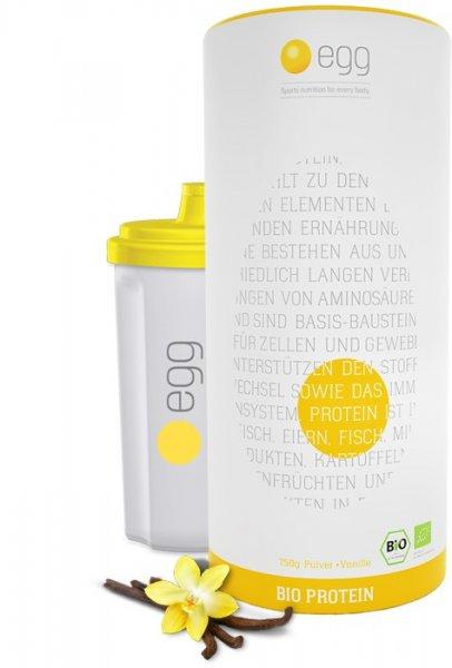 egg.de 750 gr Bio-Proteinpulver + 150 gr Creatine Pulver + Shaker für 29,98 € über KWK