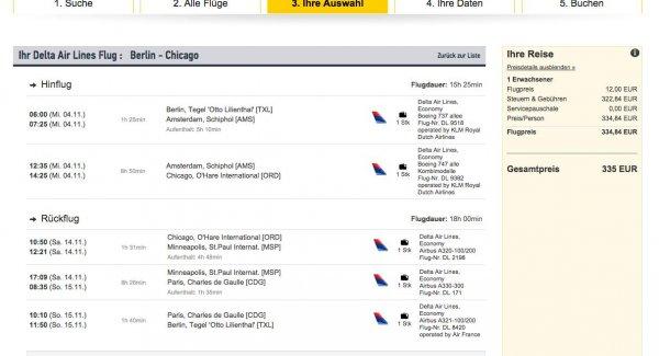 Flüge nach Chicago ab 335 €