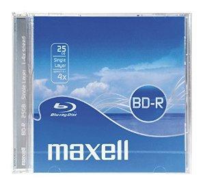 75 Stück Maxell BD-R 25GB (4x) im Jewel-Case & 15x Fotopapier & 10x Knopfzellen kosten zusammen 26,20 !