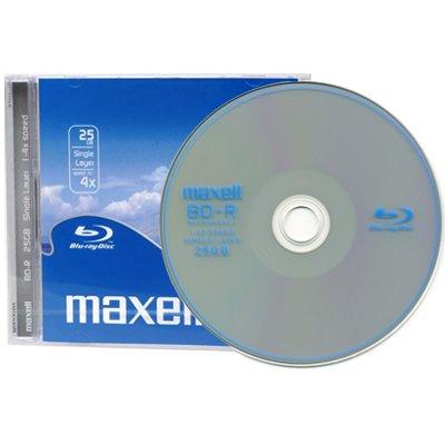 Maxell Blu-Ray BD-R 25 GB - 4x Speed - 25 Stück im Jewel-Case 0,00 € zzgl VSK (MBW 20,00 €)