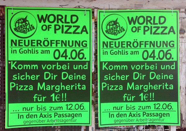 [LOKAL LEIPZIG] Pizza Margherita für nur 1€