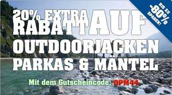 4 Clever Jetzt: 20% Extra-Rabatt auf Outdoorjacken, Parkas & Mäntel!