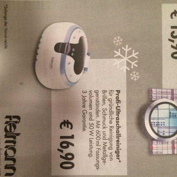 [Fielmann] Ultraschallreinigungsgerät 16,90 € bundesweit in den Filialen