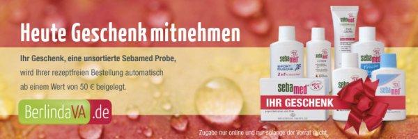 berlindaversandapotheke: Heute eine unsortierte Sebamed Probe als Geschenk