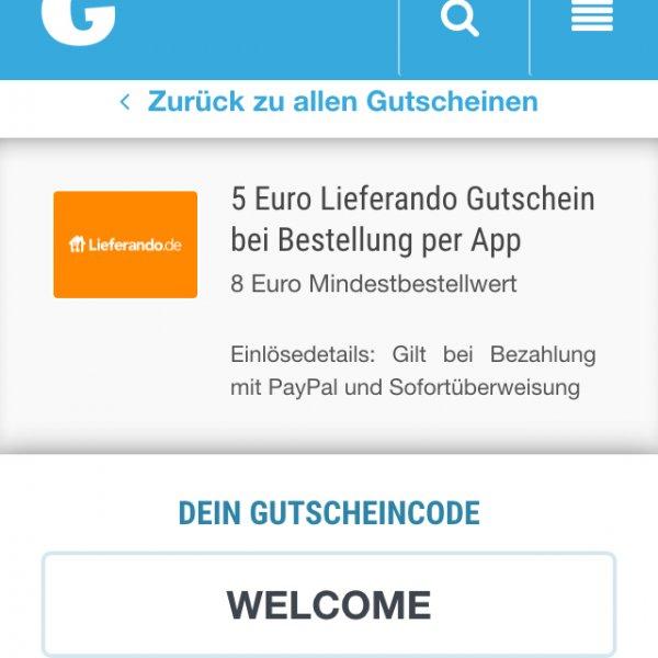 Lieferando Gutschein